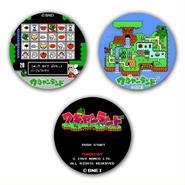 【Wagan Land】Button Badge  (3-piece set)