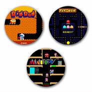 【NAMCO Arcade Selection Vol.2 】Button Badge  (3-piece set)