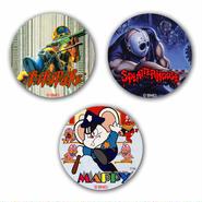 【NAMCO Arcade Selection Vol.1 】Button Badge  (3-piece set)