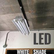 【W-2L20】2灯 笠付き LED蛍光灯 ホワイト ダクトレール用 照明器具