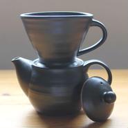 hinomigama ×GARAGE MADE 信楽焼 コーヒータイム 黒釉