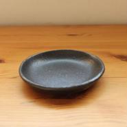GARAGE MADE限定色 hinomigama 黒釉 丸皿3