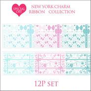 【ガラス用】RIBBON COLLECTION■リボン全6種2枚ずつの12枚セット¥12600→