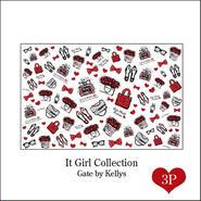 【セット割引★3枚セット】It Girl Collection転写紙/3枚セット/レッド