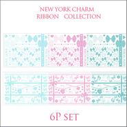 【ガラス用】RIBBON COLLECTION■リボン全6種1枚ずつの6枚セット¥6300→