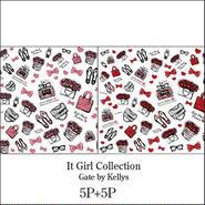 【10枚セット定価¥18000】It Girl Collection転写紙/2色10枚セット★レッド&ピンク各5枚ずつ