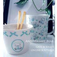 【単品】Anniversary Bear転写紙/ブルー パターン&フレーム