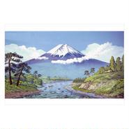 作家名:町田忍 ポストカード 「町田忍の銭湯大全」0056 富士山と渓谷