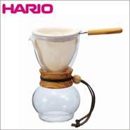 HARIO(ハリオ)ドリップポット・ウッドネック・オリーブウッド・1~2杯用・DPW-1-OV【送料無料】【問屋直送】