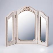 リボン三面鏡(レジン製)【送料無料】【問屋直送】
