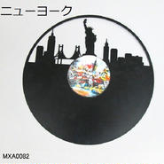ウォールデコ・レコード(レコード型の壁飾り・アイアン製)【送料無料】【問屋直送】