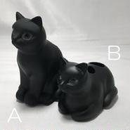 猫歯ブラシスタンド(ポリレジン製)【送料無料】【問屋直送】