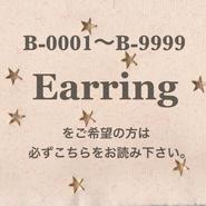 B-0001〜B-9999でイヤリングへの変更の方は必読