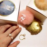 雑誌掲載アイテム✩Double Pearl Ring(ダブルパールリング)