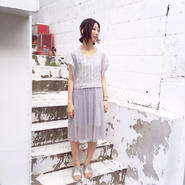 40%OFF!!!! SHIROMA 15-16A/W ghost embroidery dress -gray-