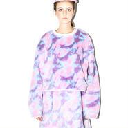 SOMEWHERE NOWHERE pink camo fur sweater