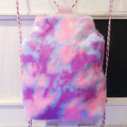 SOMEWHERE NOWHERE pink camo fur backpack