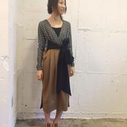ENVOL AVEC NING 15-16A/W open front dress