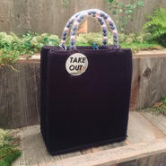 40%OFF!!!acco take out bag -navy-