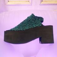 50%OFF!! ARIELLE DE PINTO / LVMM open heel boots -turquoise&black-