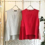40%OFF!!!! Motohiro Tanji pleats knit tops