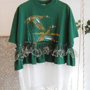 Yan na Maury remake lace tunic -white-