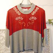 BANSAN auspicious jersey tops -red-