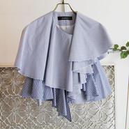 SHIROMA 17S/S BREAK stripe ruffle jacket