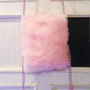 SOMEWHERE NOWHERE pink fur crossback