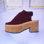 50%OFF!! ARIELLE DE PINTO / LVMM open heel boots -maroon-