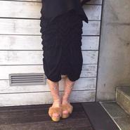 50%OFF!!! Motohiro Tanji 15-16A/W knit skirt -black-