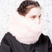 SOMEWHERE NOWHERE pink fur snood