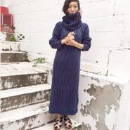 ENVOL AVEC NING 15-16A/W blue knitted dress