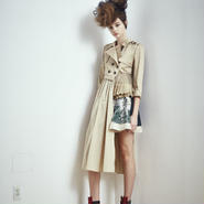 SHIROMA 17S/S BREAK asymmetry trench coat