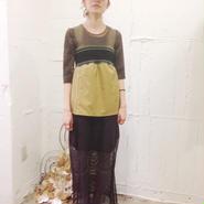 NON TOKYO reversible rib dress -khaki-