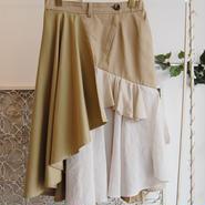 SHIROMA 17S/S BREAK trench random skirt