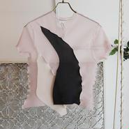 kotohayokozawa pleats see-through top -pink-