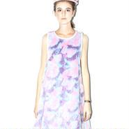 SOMEWHERE NOWHERE pastel camo fur dress