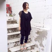 50%OFF!!!! SHIROMA 15-16A/W ghost embroidery drape dress -black-