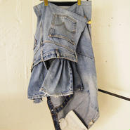 Yan na Maury re-make denim wrap skirt