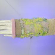 SHIROMA sleeve - lavender×yellow -