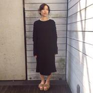 50%OFF!!! Motohiro Tanji 15-16A/W knit dress -black-