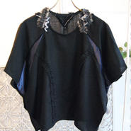 50%OFF!!!! SHIROMA×fromfabricyarn collaboration tops -black-