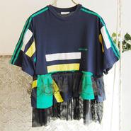Yan na Maury remake lace tunic -black-