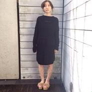 50%OFF!!! Motohiro Tanji 15-16A/W switching sweater -black-