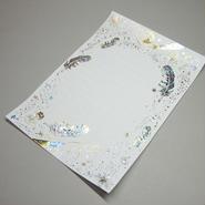 【 4刷目 】【 コスモテックブログ開設 12周年記念 製品 】 ― 箔便箋 『 白夜飛行 』