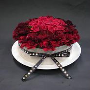 【プライムマリッジ会員様専用】生花デコレーションケーキ 赤バラ