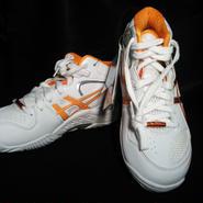 レディ ゲルフラッシュ4  TBF701 ホワイト×オレンジ 22.5㎝