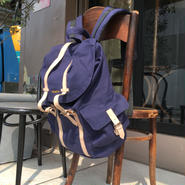 Canvas  Flap  Back  Pack/Navy