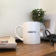 "Hashtag Mug/White ""aloha"""